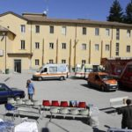 Foto LaPresse - Stefano Costantino 25/08/2016 Amatrice  (ITA) Cronaca Amatrice, secondo giorno dal sisma: l'ospedale 'F. Grifoni' chiuso a causa delle gravi lesioni; Amatrice, Rieti, Italia. Nella foto: ospedale  Grifoni'  Photo LaPresse - Stefano Costantino 25/08/2016 Amatrice  (ITA)  Amatrice, the second day after the earthquake: the Hospital 'F. Grifoni' closed due to serious damage; Amatrice, Rieti, Italy. In the pic: Hospital